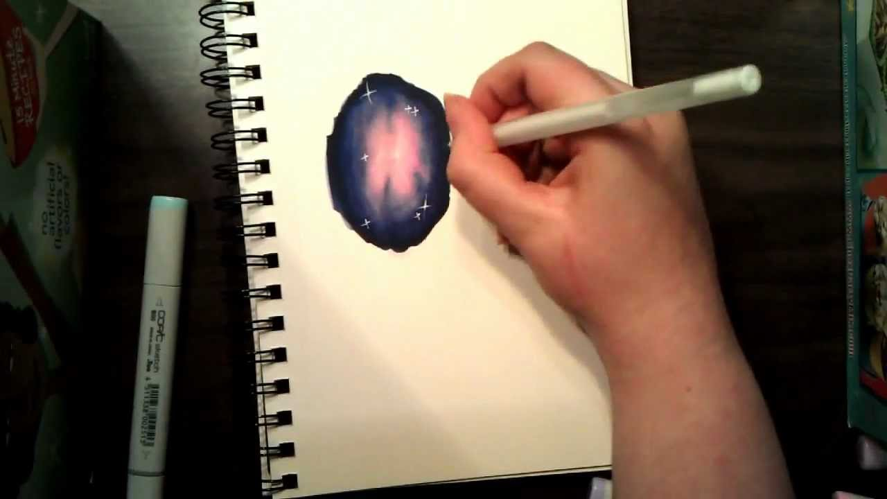 Copic Tutorial 1 Galaxy Print YouTube