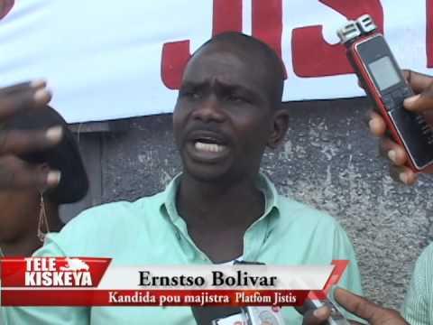 Ernstso Bolivar, candidat à la mairie de Port-au-Prince , dénonce la misère qui sévit à La Saline