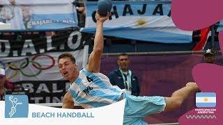 #BuenosAires2018 - Argentina le ganó a Italia en Beach Handball - #ArgentinaOlímpica