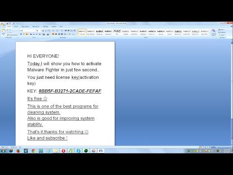 Malware Fighter v2.4 (2.5) license key