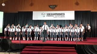 DOXAVONE STUDENT CHOIR - Opening Ceremony Soegijapranata Choral Festival Semarang 2018