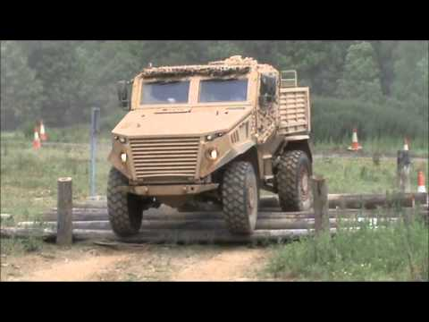 General Dynamics Foxhound LPPV Light Protected Patrol Vehicle at DVD 2012, Millbrook, United Kingdom