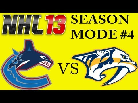 NHL 13: Vancouver Canucks Vs. Nashville Predators (Game #4) w/Commentary