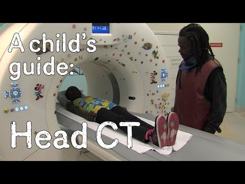 Having a CT scan of your head