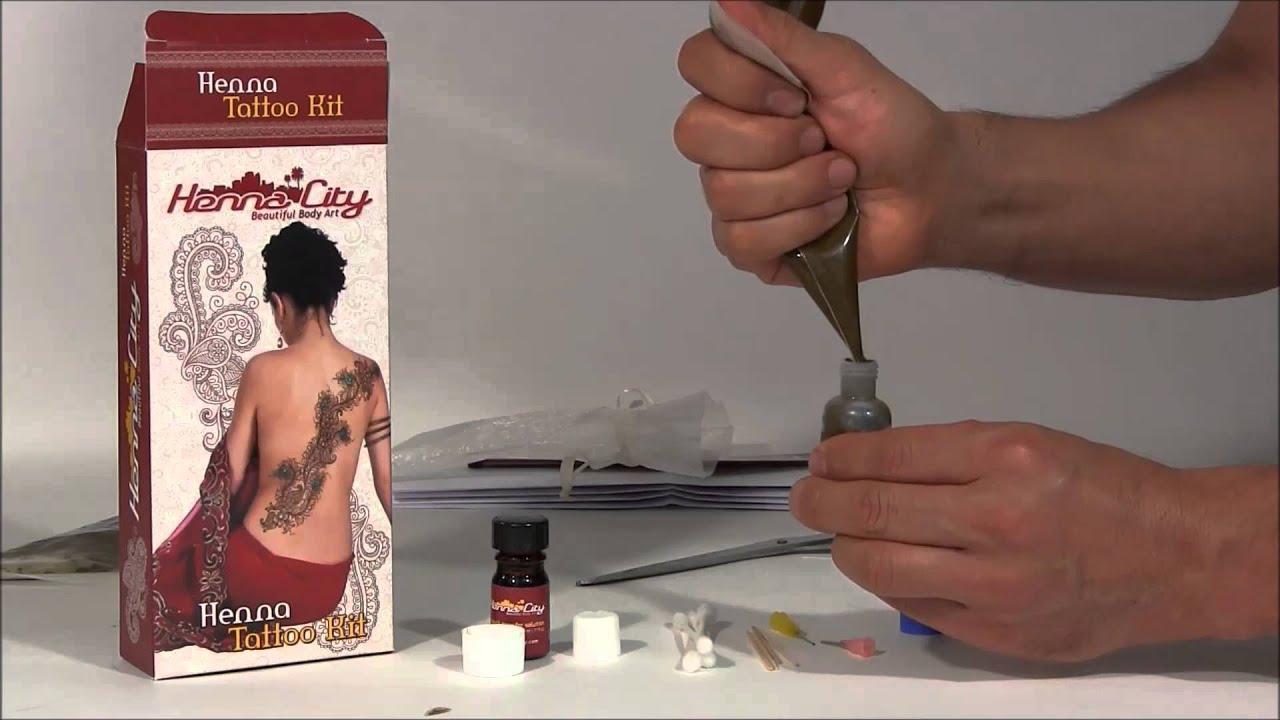 mehndi henna kit tutorial