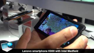 Lenovo K800 smartphone with Intel Medfield