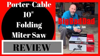 """PORTER-CABLE 10"""" 15 amp FOLDING MITER SAW REVIEW."""