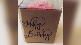 DIY - PAPER ROSE GIFT BOX FOR SOMEONE SPECIAL | Easy Handmade Crafts | organiser |surprise gift