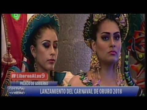 Lanzamiento del Carnaval de Oruro 2018 en Palacio de Gobierno Parte 2