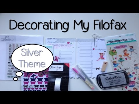 Decorating My Filofax - Silver Theme