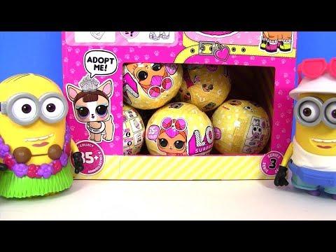Питомцы Лол #LoL Pets Surprise Series 3 Puppy Лол и Миньоны! Новинки ЛОЛ! Босс Молокосос