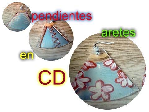 Aretes(aros) pendientes o zarcilllos de CDS
