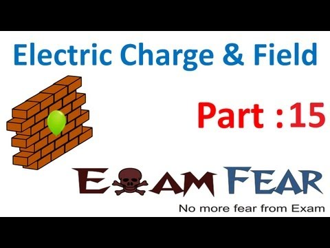 Physics Electric Charges & Fields part 15 (Problem 2) CBSE class 12