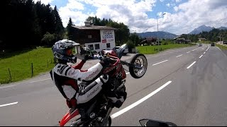 GasGas FSE 450 SM riding the Alps