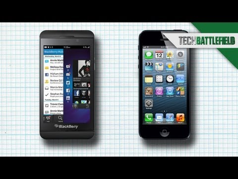 iPhone 5 vs The New Blackberry Z10 - Soldier's Tech Battlefield