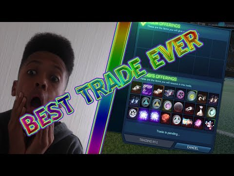BEST TRADE EVER IN ROCKET LEAGUE | FAN DONATES 2 GOAL EXPLOSIONS | BIGGEST DONATION EVER | IM BACK |
