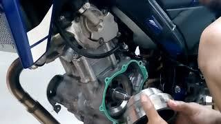 Pemasangan magnet vixion hasil bubut