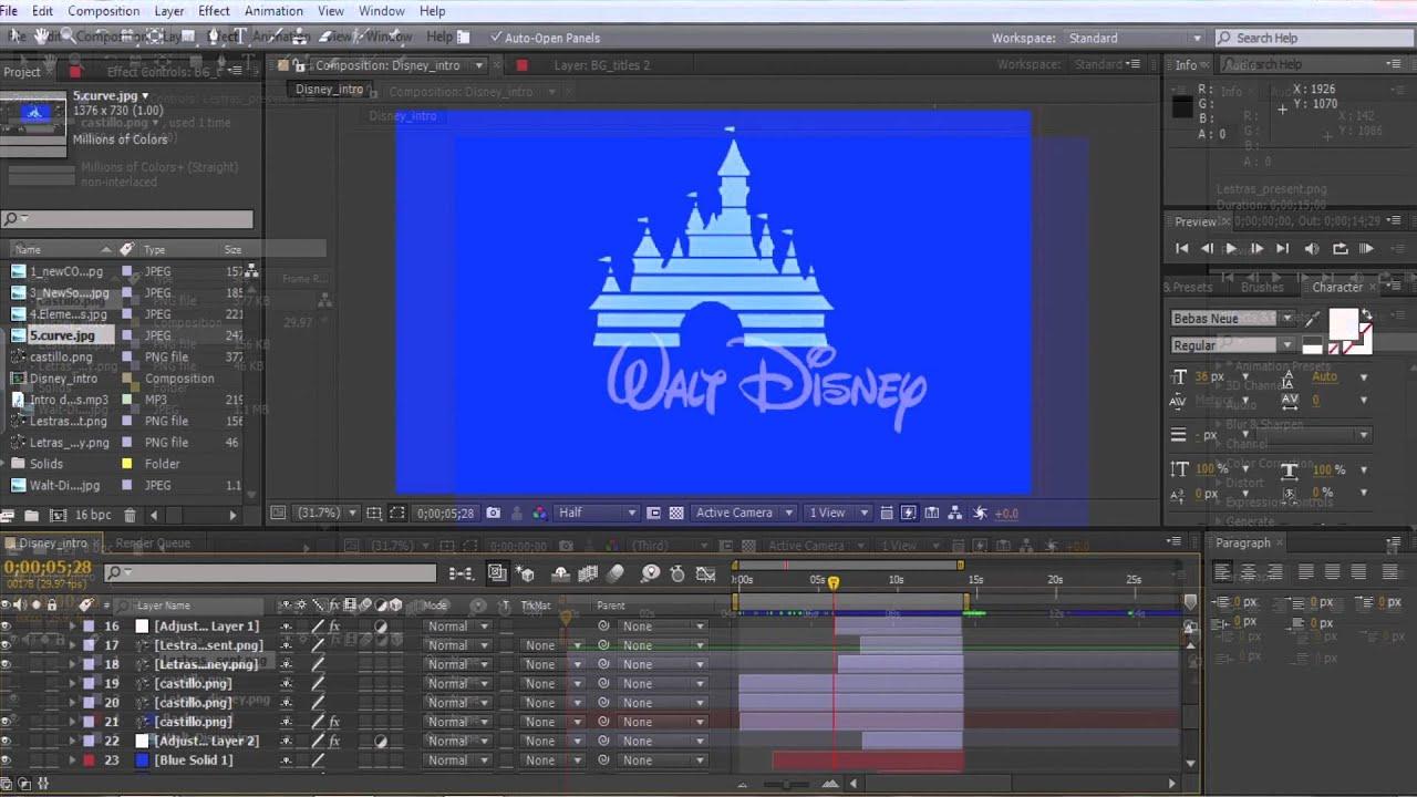 TUTORIAL DISNEY Intro HD  YouTube