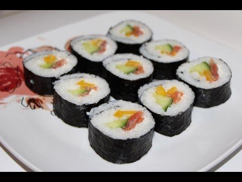Japoniški sušiai su lašiša