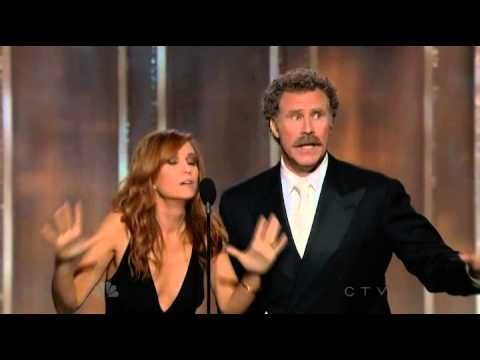 Will Ferrell & Kristen Wiig Hilarious presenting speech at The 70th Annual Golden Globe Awards 2013