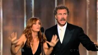 Will Ferrell & Kristen Wiig hilarious presenting speech @ 70th Annual Golden Globe Awards 2013