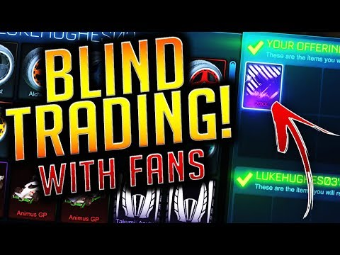 BLIND TRADING Using FILTERS - I LOST PAINTED DRACOS! (Rocket League Blind Trading)