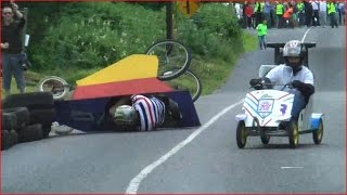 Crashes and action Soapbox Race -Abbeyfeale HD