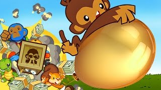 Top 10 - How to destroy the Golden Bloon 10 ways - BTD5
