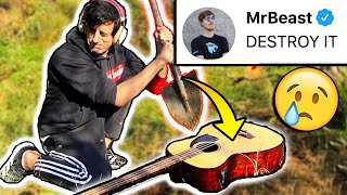 Mr Beast Challenged ME To Do This With My BASS :(