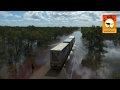 Extreme Trucks #6 - Oversize road trains in action on outback Australian flooded roads! Camhinoes
