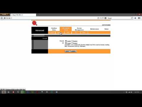 How to Disable Firewall on (BayanDSL) ZTE ZXV10 W300S Modem/Router