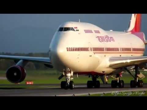 Air india landing at Karippur (calicut) Airport.