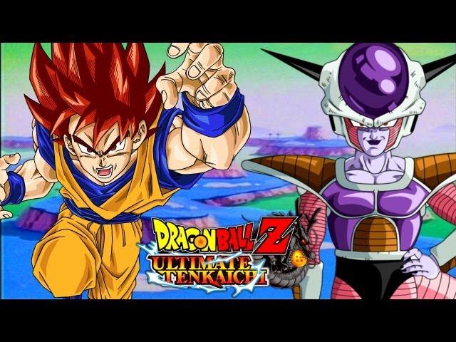 DBZ Ultimate Tenkaichi - Super Saiyan God Goku vs Frieza - Character Creator (Hero Mode)