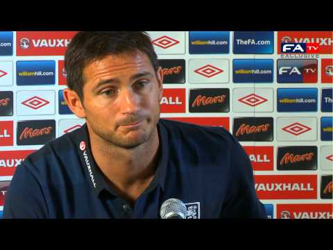 Frank Lampard Press Conference | England v Ukraine | Brazil 2014 World Cup Qualifier