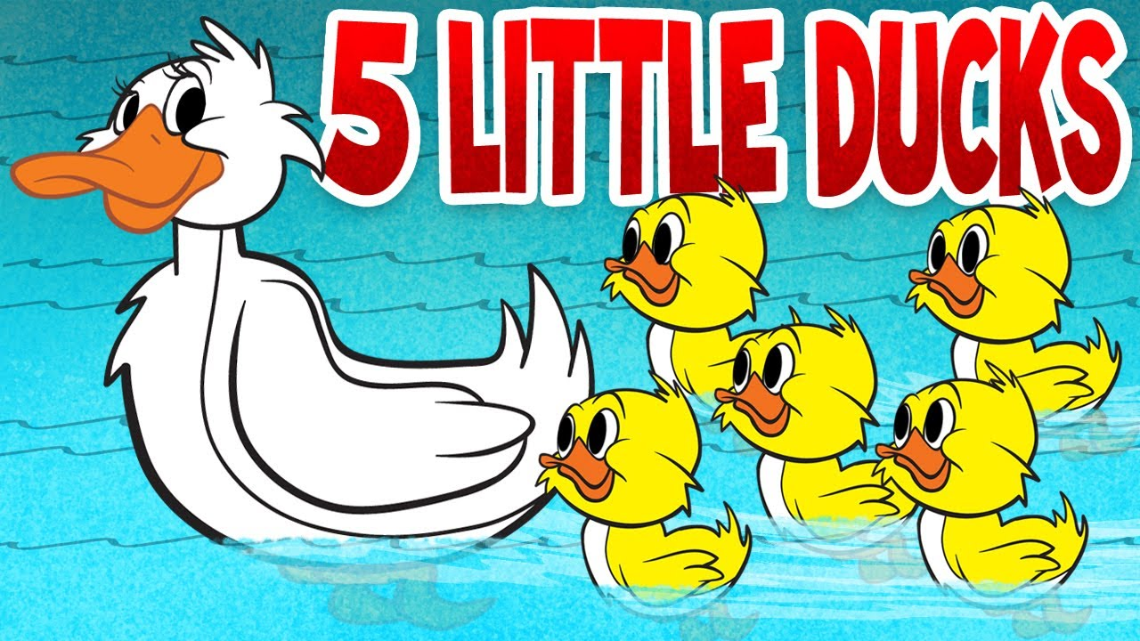 Five Little Ducks Spring Songs For Children With Lyrics