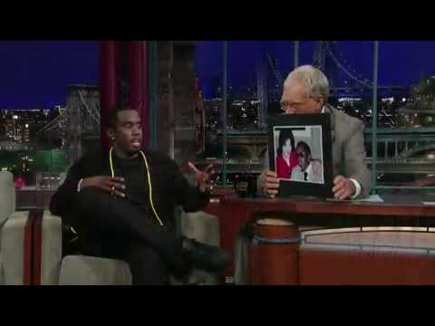 P. Diddy - Puff Daddy On David Letterman Showing A Pic With Him & MJ - Michael Jackson - Diddy
