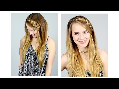 Quick Braided Half Up Hairstyle for Back to School!