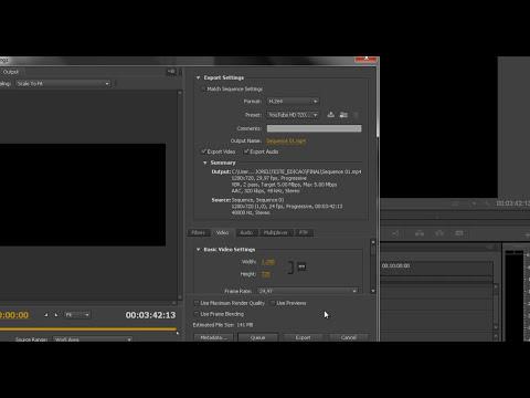 Adobe Premiere - Formatos de vídeo