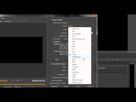 Adobe Premiere - Formatos de vídeo