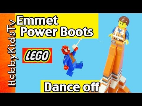 Emmet Power Boots DANCE! SpiderMan Lord Business UniKitty LEGO by HobbyKidsTV