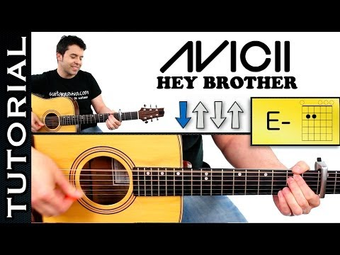 Como Tocar Hey Brother Avicii Guitarra Acordes Tutorial video