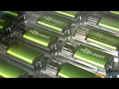 USB Flash Drive Laser Engraving in Action by Premium USB