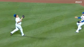 Colon makes circus catch, loses his hat
