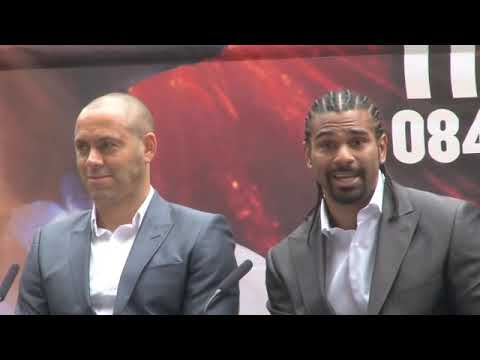 DAVID HAYE v DERECK CHISORA PRESS CONFERENCE (FULL & UNCUT) FOR iFILM LONDON.