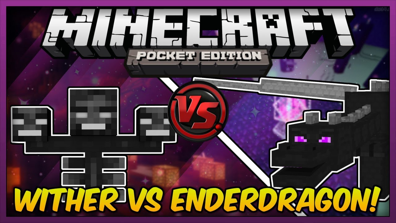 Ender Dragon Vs Wither In Mcpe Mods Minecraft Pocket