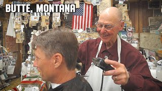 💈 Classic Old School Barber Haircut and Banter  in Butte Montana | Amherst Barber Shop