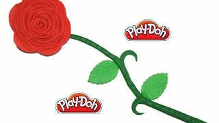 How to Make Beautiful Play Doh Red Flower