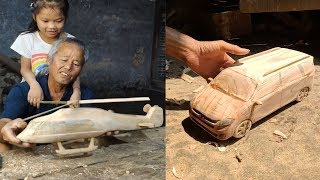 12 Creative handcraft old man use bamboo & wood