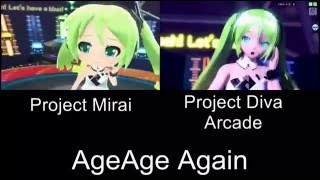 Project Mirai AgeAge Again PV Comparison 3DS Arcade
