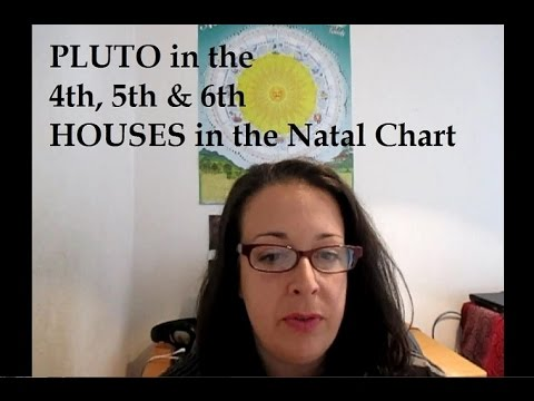 Pluto in the 4th 5th & 6th houses of the Natal Chart